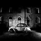 Saltaire 2CV Car at Dusk by Lorne  Campbell