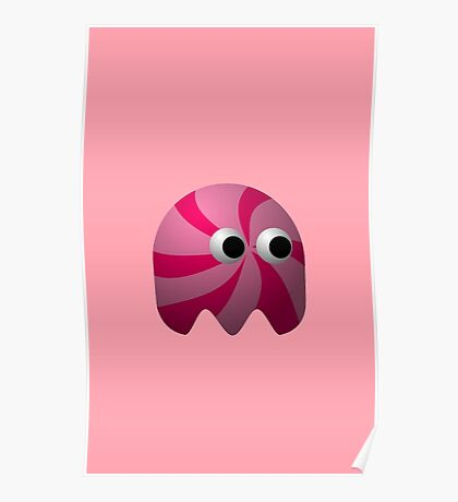 Pink Cute Monster by Chillee Wilson Poster