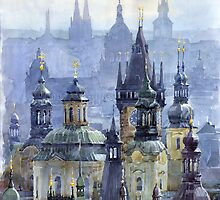 Prague Towers by Yuriy Shevchuk