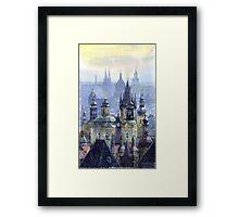 Prague Towers Framed Print