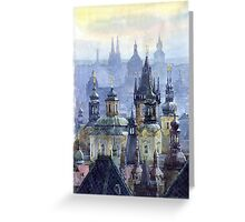 Prague Towers Greeting Card