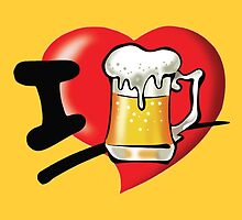I Love Beer by Edmond  Hogge