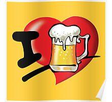 I Love Beer Poster