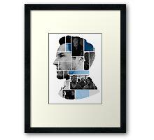 Ian Bohen Face Squares Framed Print