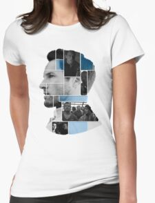 Ian Bohen Face Squares Womens Fitted T-Shirt