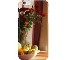Marigolds and fresh produce iPhone Case/Skin