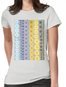 hipster fashion trendy Pastel colors rainbow bubbles Womens Fitted T-Shirt