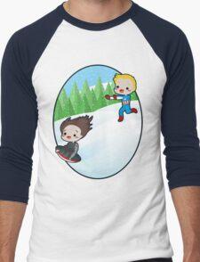 The Winter Sledder Men's Baseball ¾ T-Shirt