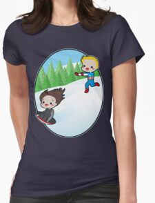 The Winter Sledder Womens Fitted T-Shirt