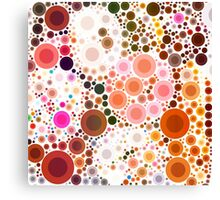 abstract geometric pattern chocolate brown pink circles Canvas Print