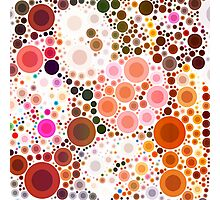 abstract geometric pattern chocolate brown pink circles Photographic Print