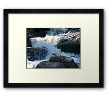The Rocky Creek Glacier - Narrabri Framed Print