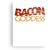 Bacon Goddess Metal Print