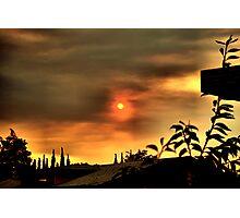 Sun and Smoke Photographic Print