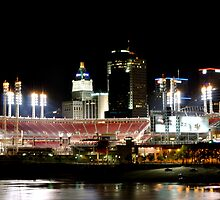 Cincinnati ballpark by HeatherMScholl