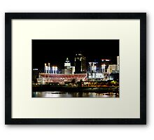 Cincinnati ballpark Framed Print