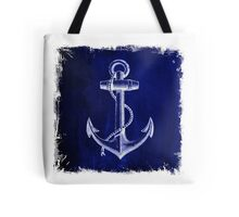 Rustic beach sailor fashion Navy blue anchor nautical  Tote Bag
