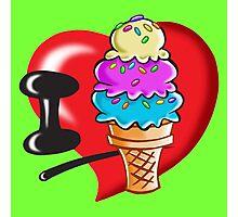 I Love Ice Cream Photographic Print
