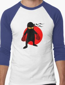 Ninja by Chillee Wilson Men's Baseball ¾ T-Shirt