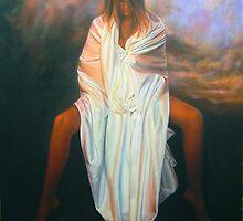 Warren Haney  'Dawn awakens'  156 cm x 102 cm    Acrylic on Stretched Canvas by Warren Haney