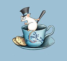 Tea Cup Mouse in Tophat Unisex T-Shirt