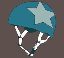 Roller Derby Jammer Helmet in Teal by Katie Tandlmayer