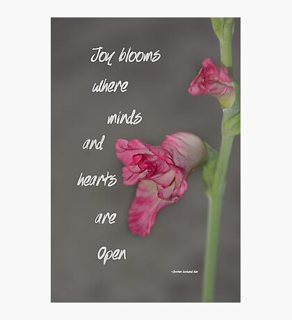 Joy Blooms Photographic Print