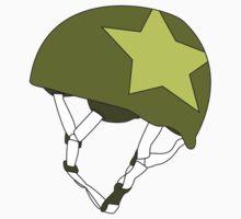 Roller Derby Jammer Helmet in Green by Katie Tandlmayer