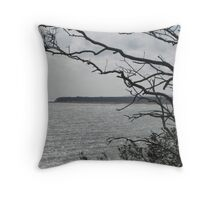 English Coastline Throw Pillow