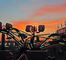 County Fair At Night by Richard Lawry