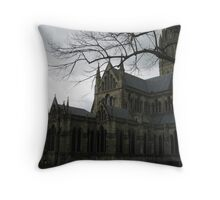 Sauslbury Cathedral Throw Pillow