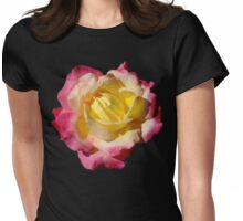 Magenta and Yellow Rose Womens Fitted T-Shirt
