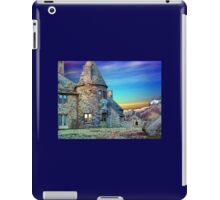 Digital Colouring - Sunset on the beach behind the castle iPad Case/Skin