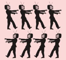 March of the Zombie TV Guys by Chillee Wilson One Piece - Long Sleeve