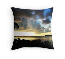 Sunset Storm Clouds Throw Pillow