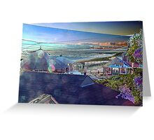 Digital Colouring - Sunset over watch hill Greeting Card