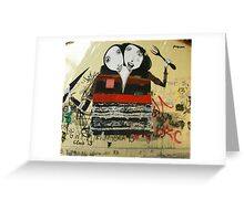 Two-Headed Diner Girls Street Art Greeting Card