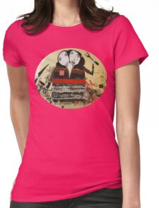 Two-Headed Diner Girls Street Art Womens Fitted T-Shirt