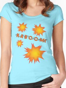 KABOOM by Chillee Wilson Women's Fitted Scoop T-Shirt