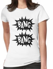 Cartoon Bang Bang by Chillee Wilson Womens Fitted T-Shirt