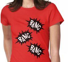 Cartoon Bang Bang Bang by Chillee Wilson Womens Fitted T-Shirt