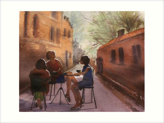 Cappuccino Courtyard by Pauline Winwood
