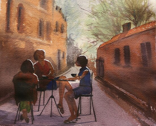 Cappuccino Courtyard by Pauline Winwood