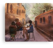 Cappuccino Courtyard Canvas Print