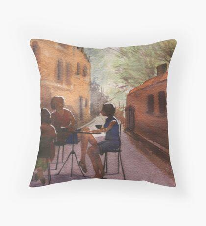 Cappuccino Courtyard Throw Pillow