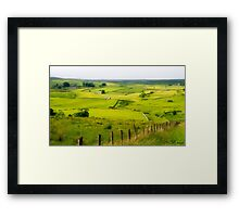 The Green Green Fields Framed Print