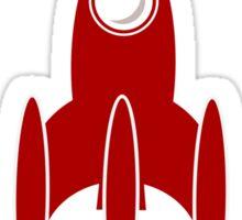 Rocket Ship 3 by Chillee Wilson Sticker