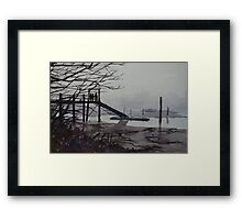 No Can See, No Can Row Framed Print