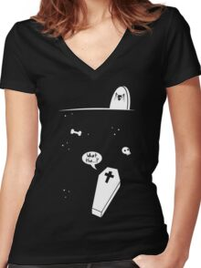 Grave Situation Women's Fitted V-Neck T-Shirt