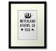 Neverland Athens, GA USA Framed Print